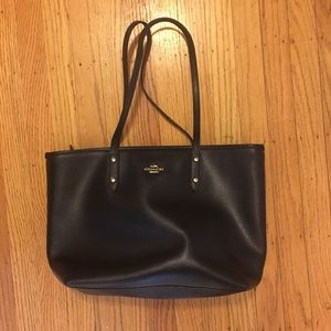 Black Leather Coach Handbag